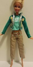 Barbie Doll Clothes Set Outfit Khaki Pants, Barbie Shirt and Teal Jacket