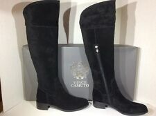 Vince Camuto Vatero Womens Size 7 Black Suede Knee High Tall Boots ZC-1273