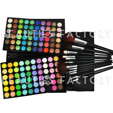 120 Color Eyeshadow Palette ARTIST FAVOR +12 pcs Black Brushes Set  Kit #89B#177