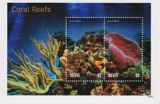 Nevis - Marine Life, Coral Reefs, 2014 - S/S MNH