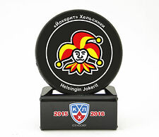 KHL Official Hockey Puck with holder Jokerit Helsinki