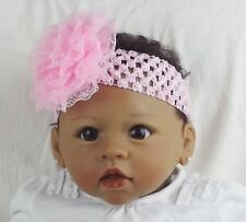 Bébé Fille Bandeau Rose Fleur Doux fête de noël cadeau uk vendeur