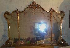 Grande e bella specchiera liberty legno intagliato oro