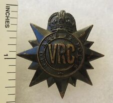 ORIGINAL WW2 Vintage CANADIAN ARMY VICTORIA RIFLES of CANADA CAP BADGE