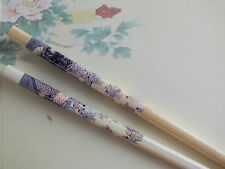 JAPANESE BLUE ANCIENT PEOPLE BAMBOO CHOPSTICKS HAIR STICK CHINESE DINNER PARTY