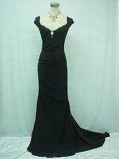 Cherlone Black Ballgown Wedding/Evening Bridesmaid Full Length Dress Size 12-14