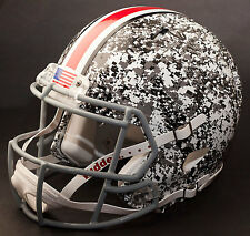 OHIO STATE BUCKEYES Authentic GAMEDAY Riddell SPEED Football Helmet (SNOW CAMO)