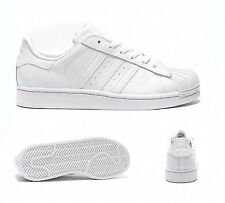 ADIDAS SUPERSTAR ALL WHITE TRAINERS ADULTS SIZE 5 WOMENS BNIB