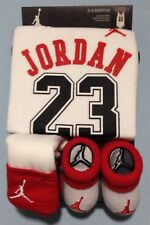 AIR JORDAN Baby BOYS Bodysuit/Romper, Booties & Cap 3-pc set WHITE 0-6Months