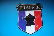 2 FRANCE MAP FLAG SHIELDS  CAR WINDOW BUMPER  STICKERS MOTORBIKE HELMET