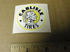 Carlisle Tires Motorcycle Racing Indian 1970's minibike vinyl sticker decal NOS