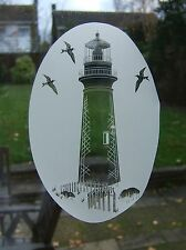 LIGHTHOUSE Vinyl Window Decoration / Window Film / Static Cling 53x84cm
