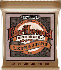 3 Pack! Ernie Ball 2150 Extra Slinky Phosphor Bronze Acoustic Guitar Strings