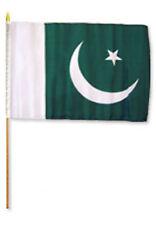 """12x18 12""""x18"""" Pakistan Stick Flag wood staff"""