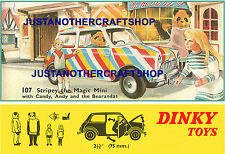 Dinky Toys 107 Stripey The Magic Mini 1967 Large Size Poster Advert Sign Leaflet