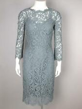 Dolce & Gabbana Gray Lace Dress with Slip Retail $2595 Size Medium