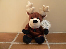1998 International Coca-Cola Bean Bag Plush BALTIC THE REINDEER -SWEDEN Soft Toy