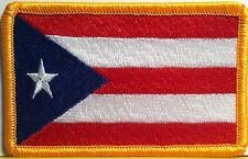 PUERTO RICO Flag Patch With VELCRO® Brand Fastener Military Tactical Emblem
