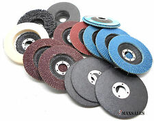 "14-PC MIX DISC 4-1/2""x7/8"" FLAP DISC,POLISHING DISC & CUT OFF WHEELS"