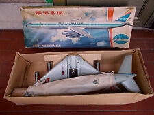 latta aereo JET AIRLINER ME 087 MADE IN CHINA A BATTERIA ANNI 60 NEW IN BOX
