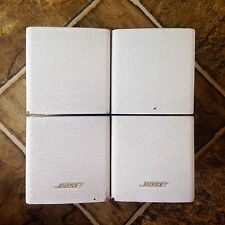 Bose Lot of 2 Double Cube Speakers (DoubleShot) Acoustimass Lifestyle In White