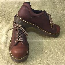 DR. MARTENS 8312 Brown Oiled Leather Oxfords Mid Boots Mens UK 11 US 12
