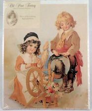 "Victorian Lithograph Print Picture Spinning The Wheel Of Love Children  8"" X 10"""
