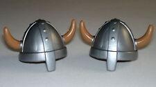 Playmobil Medievale Vichinghi Elmetto Con Corna Soldati, Accessori Soldier