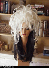 SIN CITY WIGS LONG BLACK WHITE BLONDE FUNKY WILD PIECES SPIKY LAYERS STRAIGHT