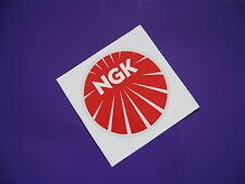 NGK round sticker/decal x2