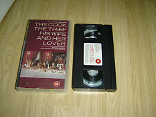 THE COOK THE THIEF HIS WIFE AND HER LOVER VHS VIDEO TAPE