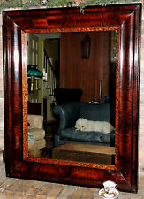 "1840 Empire mirror, painting frame, birdseye, flame, rosewood, ebonized,46""t"