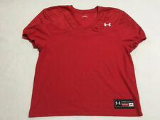 Under Armour Mens L Red Mesh Football Jersey Shirt Loose Fit