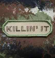 KILLIN' IT TACTICAL USA ARMY MORALE INFIDEL MILITARY BADGE MULTICAM VELCRO PATCH
