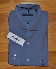 NWT Mens TOMMY HILFIGER Indigo Regular Fit L/S Dress Shirt 2XL 18- 18 1/2 34/35