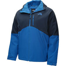 the north face mens salire insulated jacket  waterproof cosmic blue large