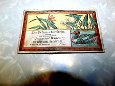 Hotel De Paris & Beer Garden -Imported Wines Harrisburg, PA Victorian Trade Card