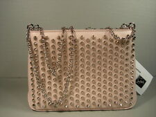 Louboutin Triloubi 3 Gusset Spike Studs Leather Handbag Shoulder Bag Purse NEW