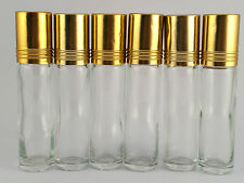 Roller Ball BOTTLE EMPTY ROLL ON Aromatherapy Bottles 10 ml GLASS pack of 10's