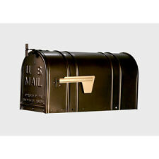 Classic Steel Large Metal Antique Bronze Mail Post Mount Mailbox Single Wall