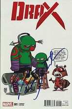 DAVE BAUTISTA SIGNED DRAX #1 COMIC BOOK MARVEL SKOTTIE YOUNG VARIANT COVER GOTG