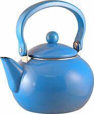 Reston Lloyd Calypso Basics 2-Quart Enamel-on-Steel Tea Kettle, Azure