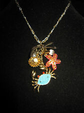 BETSEY JOHNSON UNDER THE SEA CRAB AND STARFISH NECKLACE