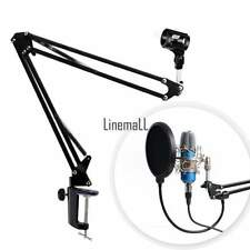Black Microphone Broadcast Studio Suspension Boom Scissor Arm Holder Mic Stand L