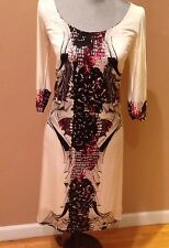 NWT Save The Queen Dress  $275. with Slip Made In Italy Size M White Black Red