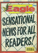 EAGLE weekly British comic book April 21 1990 VG+