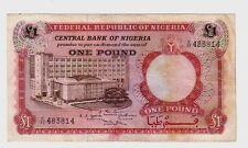 Nigeria 1 pound 1967  BB   F   Pick 8  lotto 1204