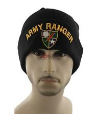 NEW! US ARMY RANGER BEANIE CAP HAT BLACK