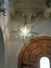 """Moravian Star -19""""  glue chip glass multiple point  18 point"""