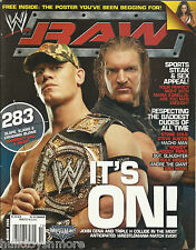 WWE RAW Wrestling Magazine March 2006 John Cena Triple H No Poster WWF